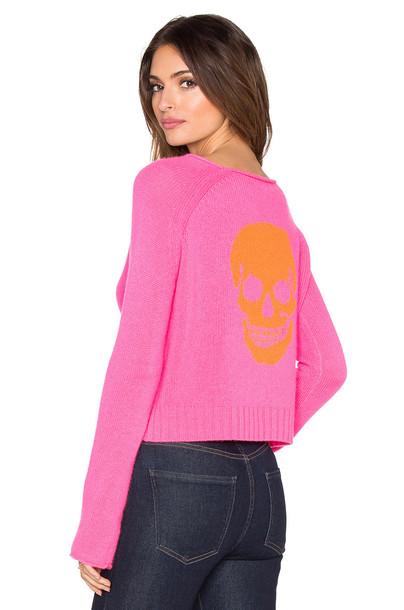 360 Sweater sweater skull sweater skull pink