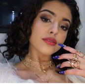 jewels,necklace,choker necklace,malu trevejo,malutrevejo,gold,layered,gold necklace,gold jewelry,gold choker,jewelry,accessories,Accessory