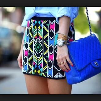 bag purse royal blue