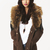 Nikki Cricket Biker Jacket with Fur in Khaki at Fashion Union