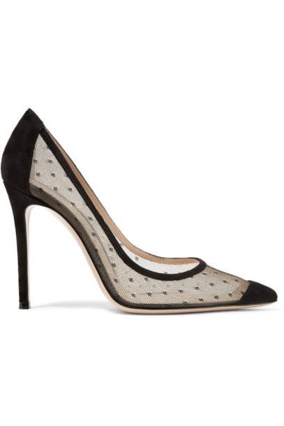 Gianvito Rossi 100 pumps suede black shoes
