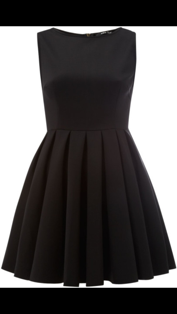dress black summer cute formal dress fit-and-flare plain black