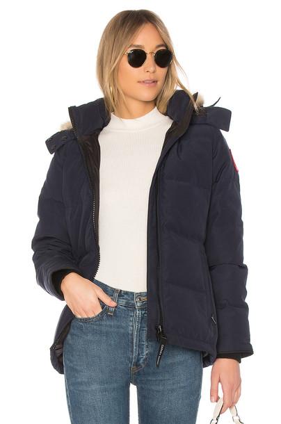 canada goose parka navy coat