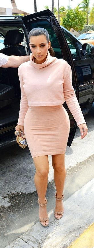 blouse kardashians kim kardashian gorgeous business cute cute dress cute outfits summer dress pink dress