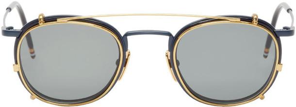 Thom Browne sunglasses gold navy