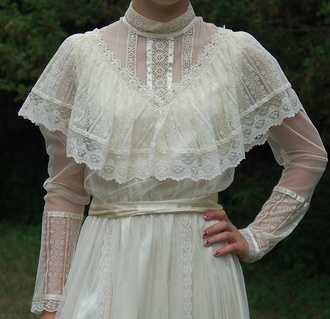 dress omg lacy dress victorian vintage wedding dress