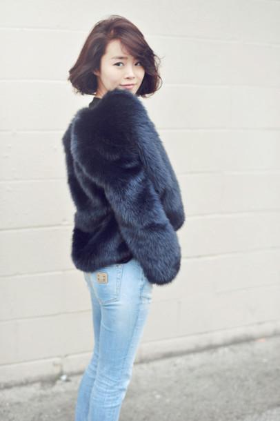 jullianne blogger jeans fur jacket