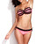 Bright Fuchsia Ruffle Push Up Swimwear Bandeau Bikini | Emprada