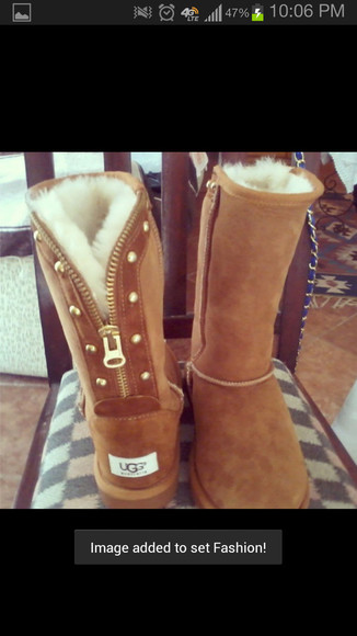 stud shoes uggs zipper