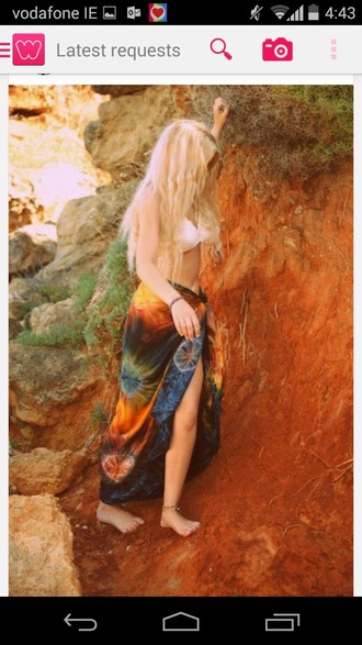 skirt hippie hippy cute colorful indie alternative