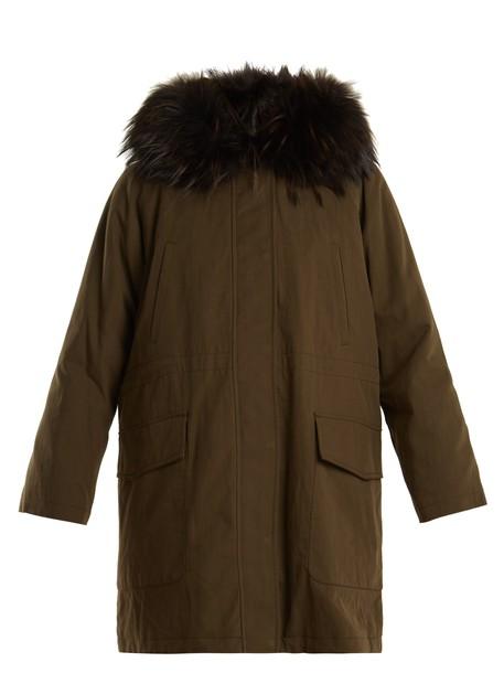 WEEKEND MAX MARA parka khaki coat