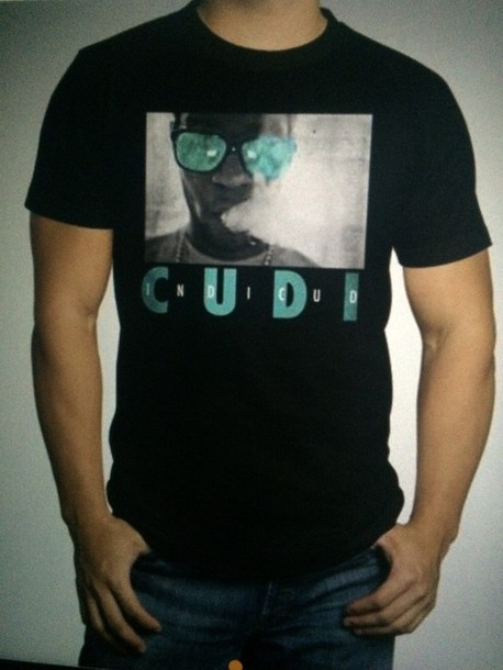 kid cudi black t-shirt mens t-shirt