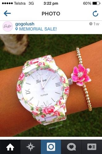 jewels floral watch bracelets