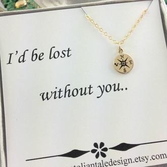 jewels compass necklace necklace bestfriend