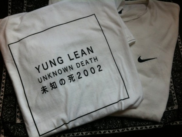 t-shirt unknow death 2002 japanese quotes yung lean