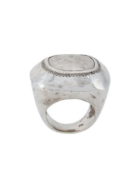 Rosa Maria women ring silver grey metallic jewels