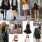 Women candy colored high waist pleated double layered sheer short chiffon skirts | ebay