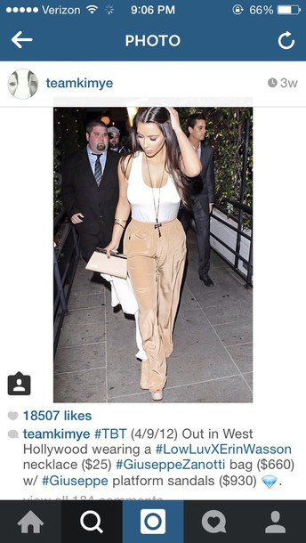 top kim kardashian pants
