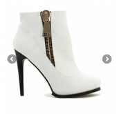 shoes,boots white zip amazing need