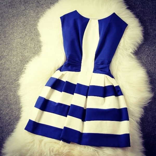 dress blue dress striped dress blue and white stripped