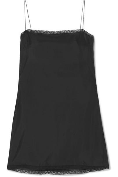 Prada dress mini dress mini lace black satin