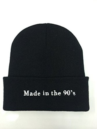 Made in the 90's beanie at amazon men's clothing store:
