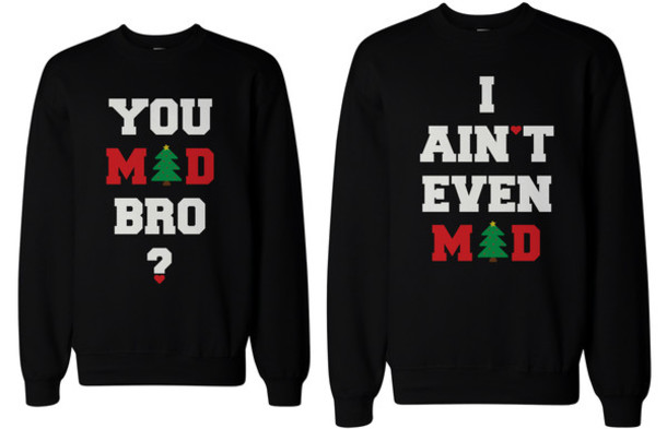 christmas, christmas sweater, quote on it, couple sweaters - Wheretoget