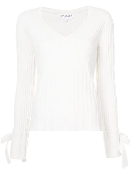 DEREK LAM 10 CROSBY sweater women white cotton