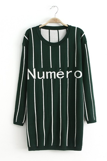 Street Style Knitting Dress with Letters [FXBI00372]- US$ 28.79 - PersunMall.com