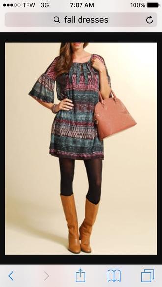 blouse dress fall dress fall dress bag