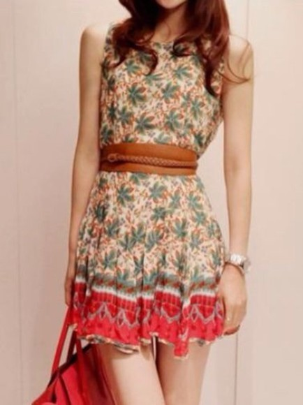 printed dress coconut tree skater dress