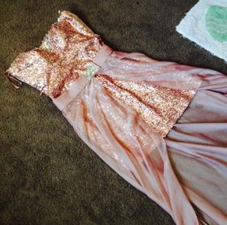dress pink prom dress sequin dress evening dress sequin long dress long prom dress prom ball senior senior prom