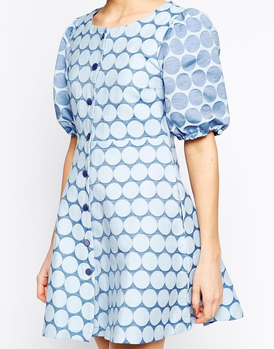 Ivana helsinki button front dress at asos.com
