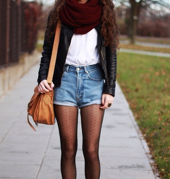 underwear tights black shorts clothes jacket socks bag scarf weheartit accessories red white back to school leather jacket