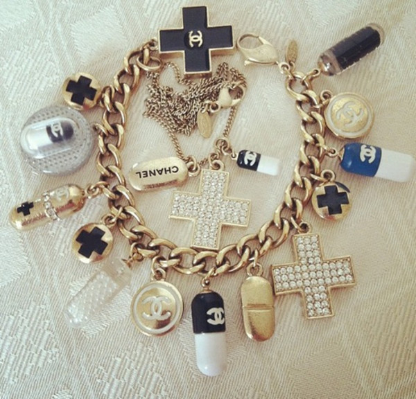 belt bracelets chanel jewels jewelry blue gold white