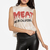 The Laundry Room Meat Me In California Lightning Crop Tee