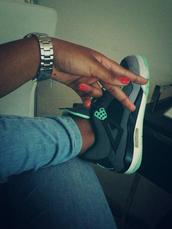 shoes,grey,green,jordans,air jordan,sneakers,black