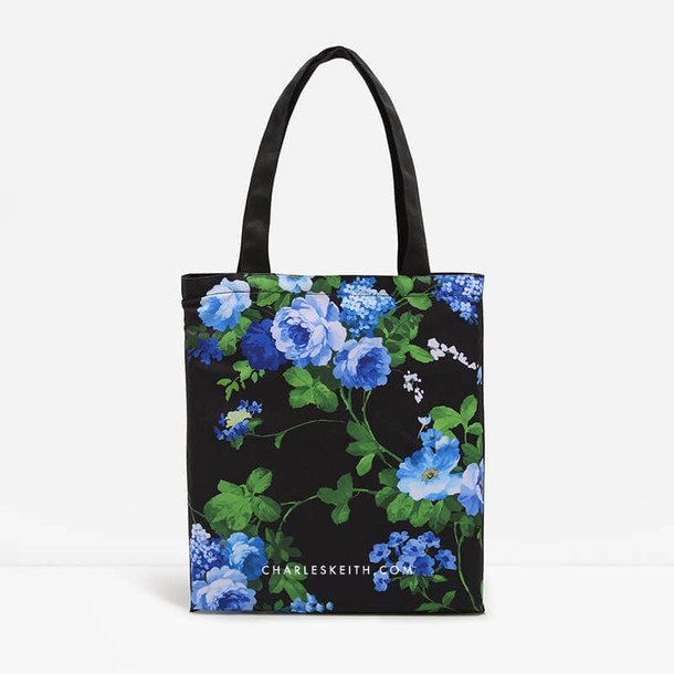 bag tote bag floral black