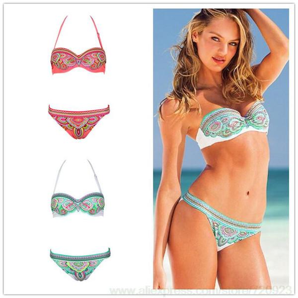 Cute Tahiti Bikini (Turquoise, Pink)
