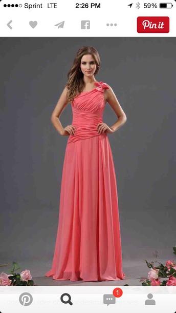 dress pink coral dress