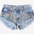Starstruck Acid Studded Babe Shorts | RUNWAYDREAMZ