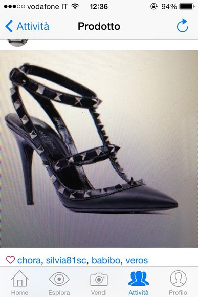 shoes high heels simil valentino rockstud black fake