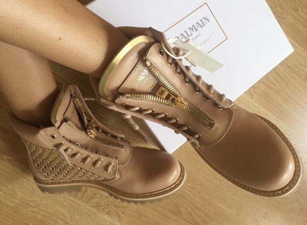 shoes balmain tan
