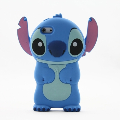 New Fashion 3D Blue Stitch Movable Ear Flip Silicone Case Cover for iPhone 4 4S | eBay