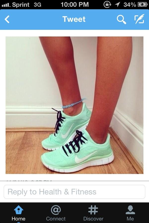 shoes nike turquoise nike sneakers nike running shoes blue green nike free run mint 2.0