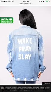 jacket,wake pray slay