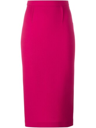skirt pencil skirt women wool purple pink