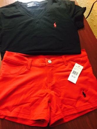 shorts ralph lauren short shirt black t-shirt ralph lauren femme ralph lauren polo