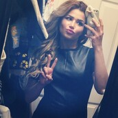 dress,black,leather,little,cute high heels