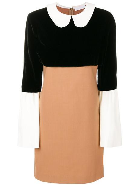 Blanchett Dame dress short women spandex nude wool